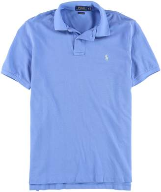 Ralph Lauren Mens Weathered Mesh Rugby Polo Shirt L