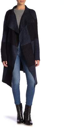 Joseph A Colorblock Draped Front Sweater (Petite)