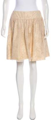 Christian Dior Lace Knee-Length Skirt Tan Lace Knee-Length Skirt