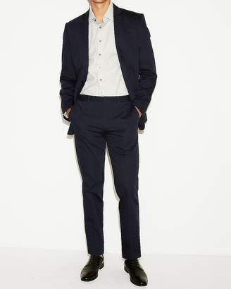 Express Slim Navy Cotton Sateen Suit Pant