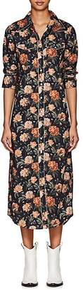 R 13 Women's Floral Cowboy Shirtdress - Black