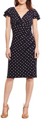 Lauren Ralph Lauren Polka-Dot Sheath Dress
