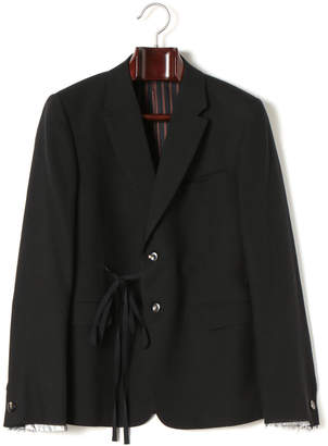 Miharayasuhiro リボン カットオフ風 テーラードジャケット ブラック 48