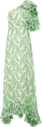 Saloni Danielle One Shoulder Silk Maxi Dress