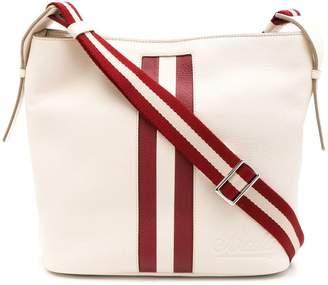 Bally stripe detail shoulder bag