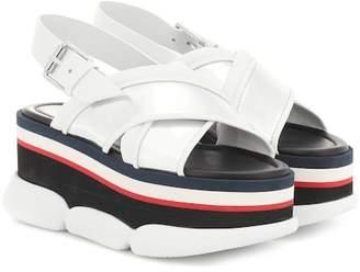 fbd23cfc5e87 Moncler Zelda leather-trimmed platform sandals