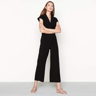 Minimum Black Cap Sleeve 'Elvira' Wide Leg Jumpsuit