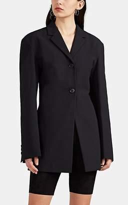 Jil Sander Women's Black Gabardine Long Blazer - Black
