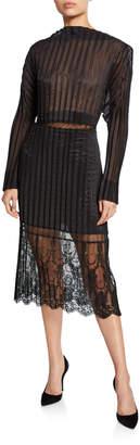 Stella McCartney Carey Pleated Midi Dress