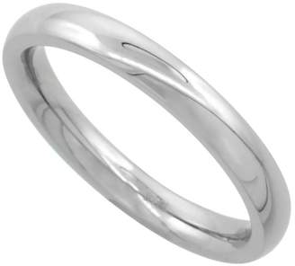 Sabrina Silver Surgical Steel 3mm Domed Wedding Band Thumb / Toe Ring Comfort-Fit High Polish, size 5