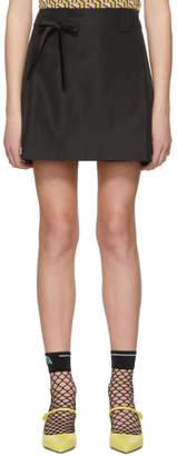 Prada Black Portfolio Miniskirt