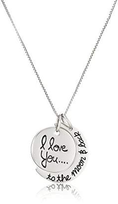 "Rosegold Sterling ""I Love You To The Moon and Back"" Pendant Necklace"