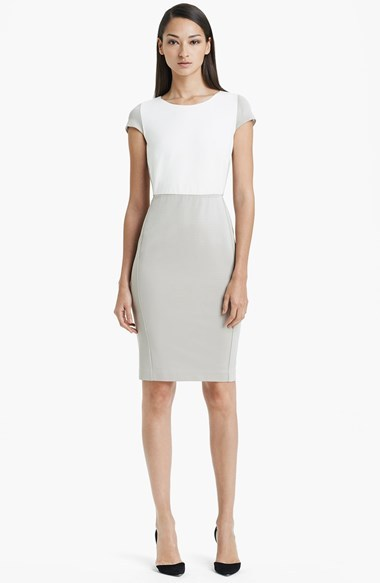 Max Mara 'Guelfi' Colorblock Sheath Dress