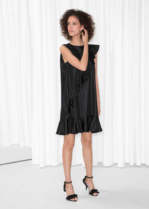And other stories Satin Frill Dress