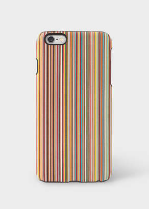 Paul Smith Signature Stripe Leather iPhone 6 Plus Case