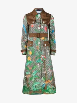 Gucci Tian print 'GG Supreme' coat