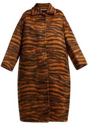 Bottega Veneta Tiger Stripe Coat - Womens - Animal