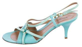 Emilio Pucci Leather Ankle Strap Sandals