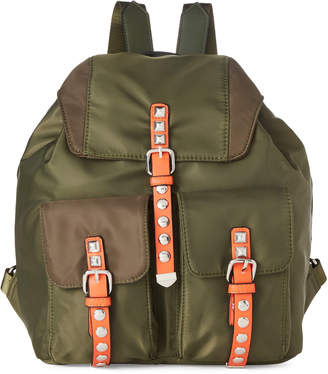 Urban Expressions Olive Mountain Studded Vegan Backpack