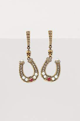 Alexander McQueen Horse shoe earrings