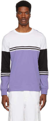 Paul Smith Purple Organic Striped Long Sleeve T-Shirt