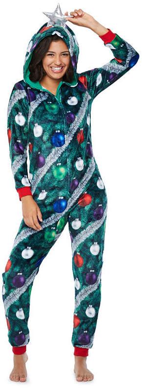 PEACE LOVE AND DREAMS Peace Love And Dreams Long Sleeve One Piece Pajama