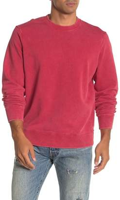 OVADIA AND SONS Long Sleeve Washed Out Crew Neck Sweater