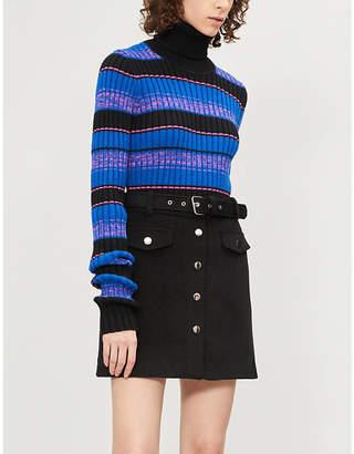 B+AB A-line woven mini skirt