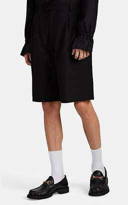 Gucci Men's Wool Hopsack Pleated-Front Shorts - Black