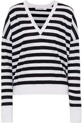 Rag & Bone Bevan Distressed Striped Merino Wool Sweater