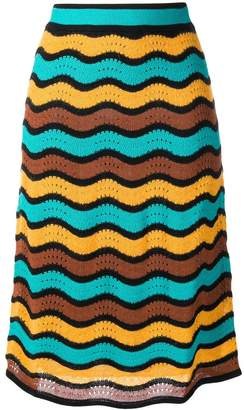 M Missoni high waisted knitted skirt