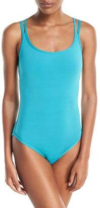 Jets Illuminate Bound Strappy One-Piece Swimsuit