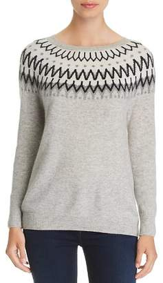 Bloomingdale's C by Fair Isle Cashmere Sweater - 100% Exclusive