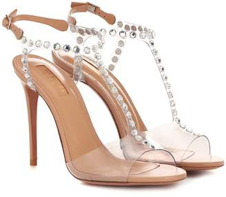 Aquazzura Shine 105 embellished sandals