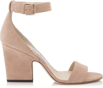 Jimmy Choo EDINA 85 Ballet Pink Suede Wedges