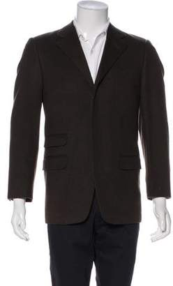 Gianni Versace Wool & Angora Notch-Lapel Blazer