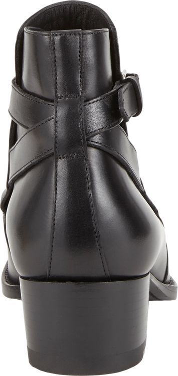 Saint Laurent Wyatt Ankle Boots-Black
