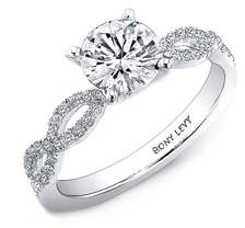 Bony Levy Twist Pave Round Engagement Ring Setting
