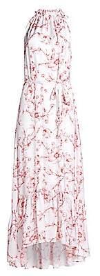 ML Monique Lhuillier Women's Floral Halter Maxi Dress - Size 0