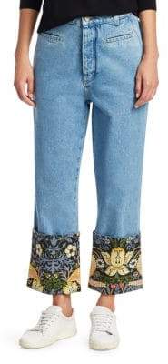 Loewe Fishmerman William Morris Cropped Jeans