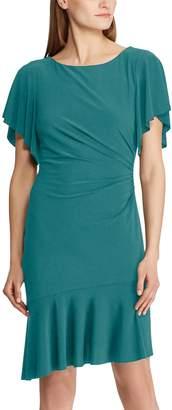Chaps Women's Floral Flounce Hem Dress