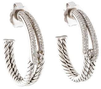 David Yurman Diamond Labyrinth Hoop Earrings