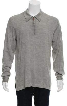 Hermes Cashmere & Silk Half Zip Sweater