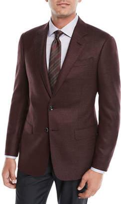 Giorgio Armani Men's Micro-Texture Wool Jacket
