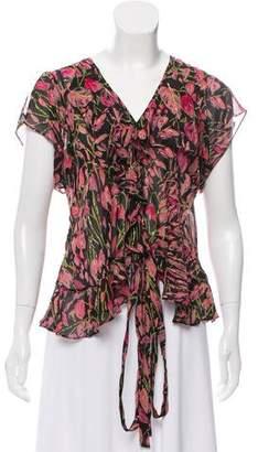 Nicole Miller Silk Embellished Top