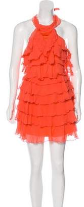 Alice + Olivia Tiered Halter Dress