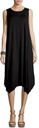 Eileen Fisher Sleeveless Jersey Handkerchief Dress, Petite $188 thestylecure.com