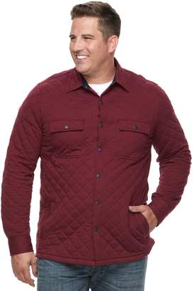 Croft & Barrow Big & Tall Classic-Fit Quilted Shirt Jacket