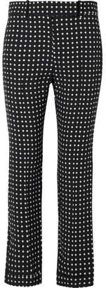 Haider Ackermann Polka-dot Crepe Straight-leg Pants