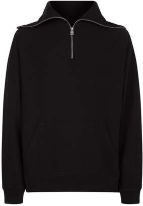 AllSaints Gethian Zip Funnel Neck Sweater